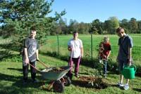 """Projekta """"Atbalsts jauniešiem Koknesē"""" talka """"Dzīvojam zaļi"""""""